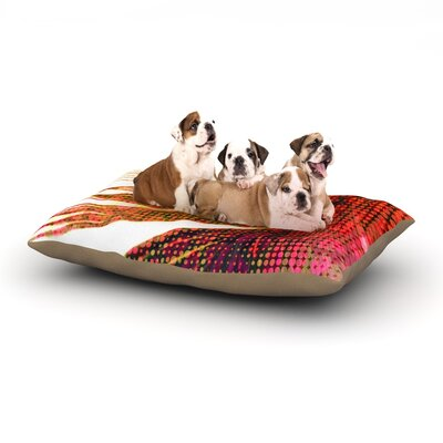 Alison Coxon Feather Pop Dog Pillow with Fleece Cozy Top Size: Small (40 W x 30 D x 8 H)