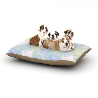 Alison Coxon Blue Paper Flower Dog Pillow with Fleece Cozy Top Size: Small (40 W x 30 D x 8 H)