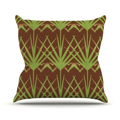 Mint Choc by Alison Coxon Throw Pillow Size: 16'' H x 16'' W x 1
