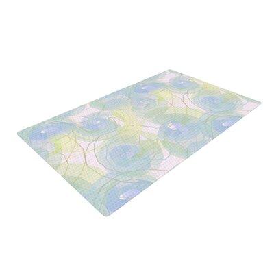 Alison Coxon Paper Flower Blue Area Rug Rug Size: 4 x 6