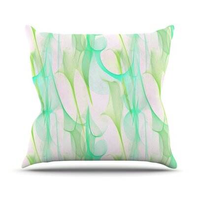 Swim II by Alison Coxon Throw Pillow Size: 18'' H x 18'' W x 1