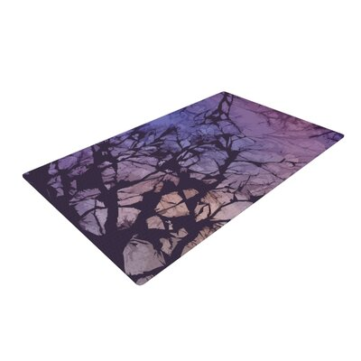 Alison Coxon Violet Skies Brown/Purple Area Rug Rug Size: 4 x 6