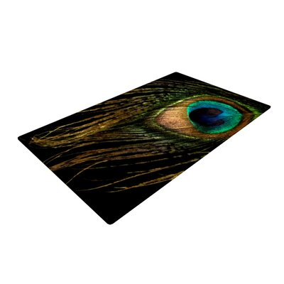 Alison Coxon Peacock Black Area Rug
