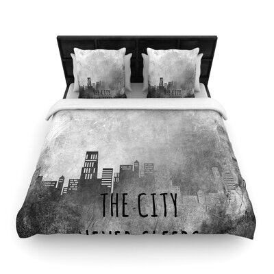 The City Never Sleeps Woven Comforter Duvet Cover Size: Twin