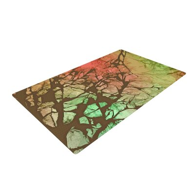Alison Coxon Fire Skies Brown/Green Area Rug Rug Size: 2 x 3