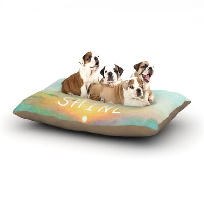 Alison Coxon You Are My Sunshine Dog Pillow with Fleece Cozy Top Size: Large (50 W x 40 D x 8 H)