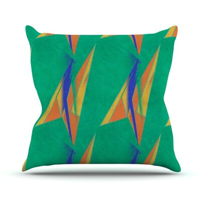 Deco Art by Alison Coxon Throw Pillow Size: 18'' H x 18'' W x 1