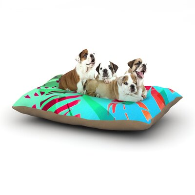 Alison Coxon Cool Tropical Dog Pillow with Fleece Cozy Top Size: Large (50 W x 40 D x 8 H)