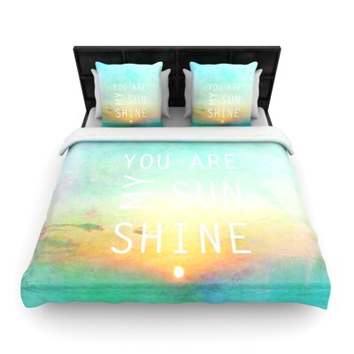 You Are My Sunshine by Alison Coxon Featherweight Duvet Cover Size: Full/Queen, Fabric: Woven Polyester