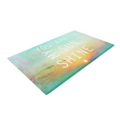 Alison Coxon You are My Sunshine Green Area Rug Rug Size: 4 x 6