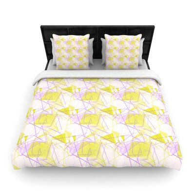 Yellow Woven Comforter Duvet Cover Size: Full/Queen