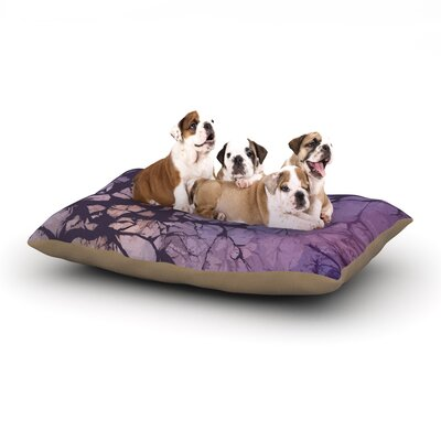 Alison Coxon Violet Skies Dog Pillow with Fleece Cozy Top Size: Large (50 W x 40 D x 8 H)