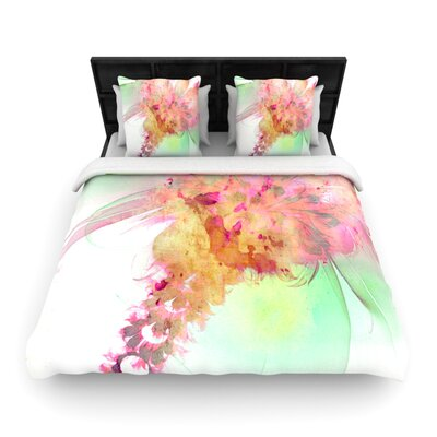 Lily by Alison Coxon Featherweight Duvet Cover Size: Queen, Fabric: Lightweight Polyester