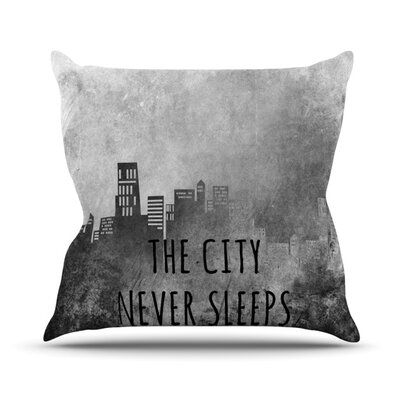 The City Never Sleeps Outdoor Throw Pillow Size: 20 H x 20 W x 4 D