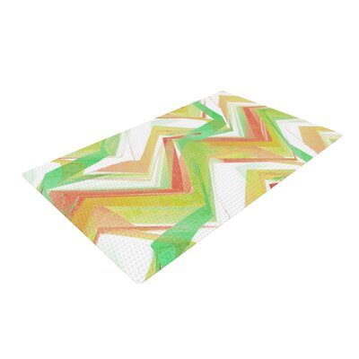 Alison Coxon Summer Party Chevron Green/Yellow Area Rug