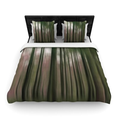Forest Blur by Alison Coxon Featherweight Duvet Cover Size: King, Fabric: Woven Polyester