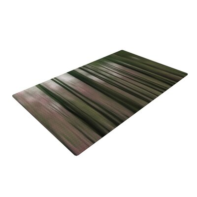 Alison Coxon Forest Blur Brown/Pink Area Rug
