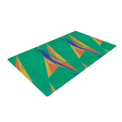 Alison Coxon Deco Art Green/Yellow Area Rug
