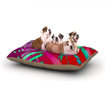 Alison Coxon Hot Tropical Dog Pillow with Fleece Cozy Top Size: Small (40 W x 30 D x 8 H)