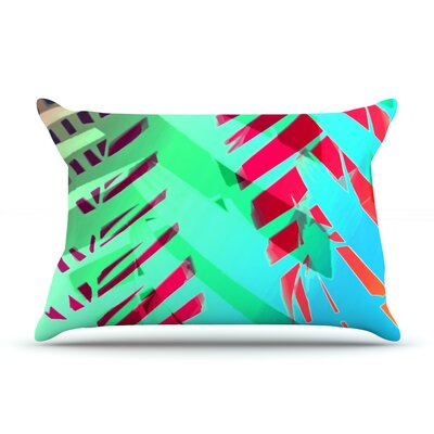 Alison Coxon Cool Tropical Pillow Case Color: Blue/Green