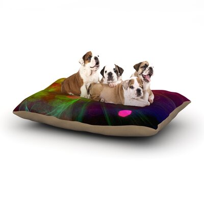 Alison Coxon Dance Dog Pillow with Fleece Cozy Top Size: Large (50 W x 40 D x 8 H)