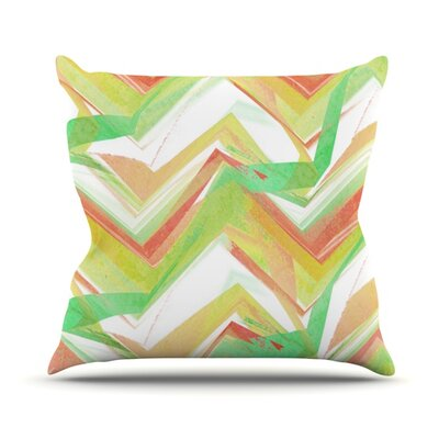 Summer Party Chevron by Alison Coxon Throw Pillow Size: 18 H x 18 W x 1 D