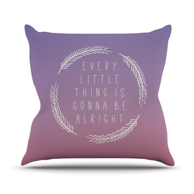 Little Thing by Galaxy Eyes Throw Pillow Size: 20 H x 20 W x 1 D