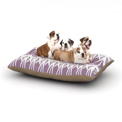 Alison Coxon Arrow Lavender Dog Pillow with Fleece Cozy Top Size: Small (40 W x 30 D x 8 H)