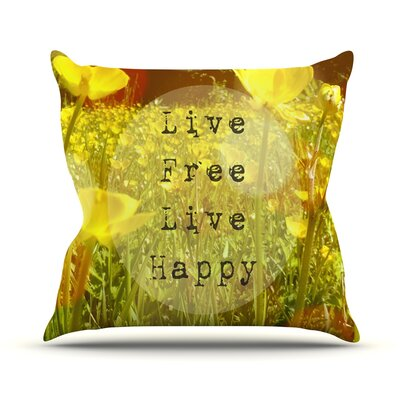 Live Free by Alison Coxon Throw Pillow Size: 18'' H x 18'' W x 1