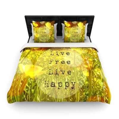 Live Free by Alison Coxon Featherweight Duvet Cover Size: Queen, Fabric: Woven Polyester
