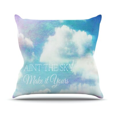 Paint the Sky! by Alison Coxon Throw Pillow Size: 20 H x 20 W x 1 D