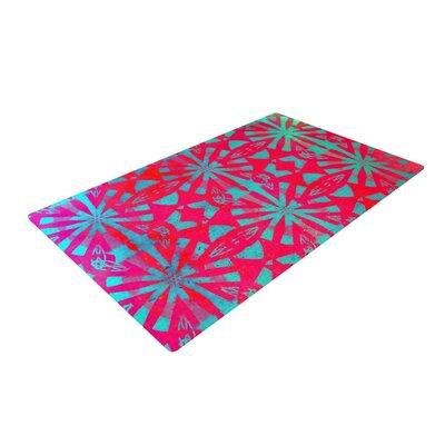 Alison Coxon Aloha Red Area Rug Rug Size: 2 x 3
