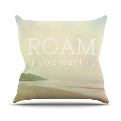Roam by Alison Coxon Ocean Throw Pillow Size: 18'' H x 18'' W x 1