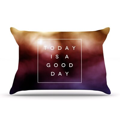 Galaxy Eyes 'Good Day' Rainbow Pillow Case