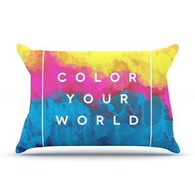 Galaxy Eyes Color Your World Rainbow Paint Pillow Case