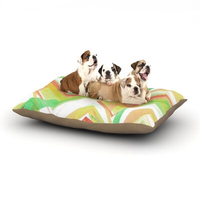 Alison Coxon Summer Party Chevron Dog Pillow with Fleece Cozy Top Size: Small (40 W x 30 D x 8 H)