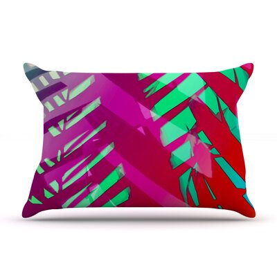 Alison Coxon Cool Tropical Pillow Case Color: Pink/Red