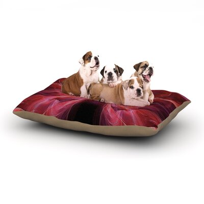 Alison Coxon Butterfly Dog Pillow with Fleece Cozy Top Size: Small (40 W x 30 D x 8 H), Color: Red/Pink