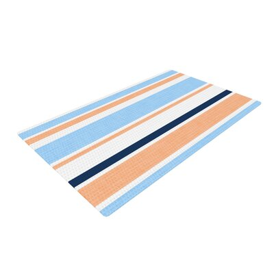 Alison Coxon Jack Tar Blue/Orange Area Rug Rug Size: 4 x 6