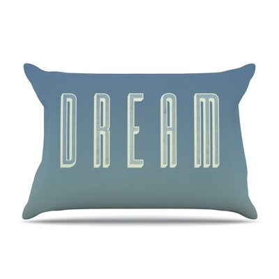 Dream Print by Galaxy Eyes Featherweight Pillow Sham Size: King, Fabric: Woven Polyester