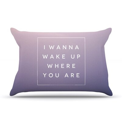 Wake Up by Galaxy Eyes Featherweight Pillow Sham Size: King, Fabric: Woven Polyester