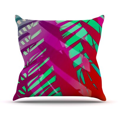 Tropical by Alison Coxon Throw Pillow Size: 26 H x 26 W x 1 D, Color: Pink/Red