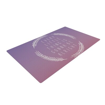 Galaxy Eyes Little Thing Purple/Pink Area Rug Rug Size: 4 x 6