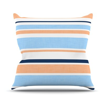 Jack Tar by Alison Coxon Throw Pillow Size: 18 H x 18 W x 1 D, Color: Pink/Blue/Orange
