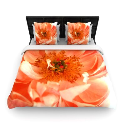 Blushing Peony by Pellerina Design Featherweight Duvet Cover Size: Queen, Fabric: Woven Polyester