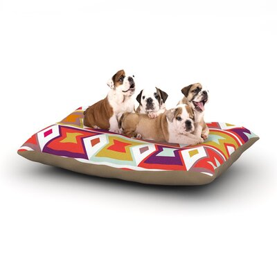 Pellerina Design Aztec Weave Dog Pillow with Fleece Cozy Top Size: Large (50 W x 40 D x 8 H)