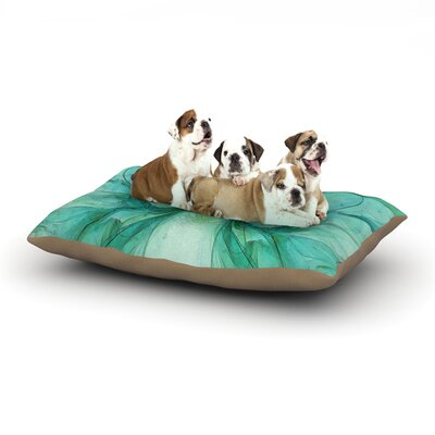Alison Coxon Butterfly Dog Pillow with Fleece Cozy Top Size: Large (50 W x 40 D x 8 H), Color: Blue/Green/Black