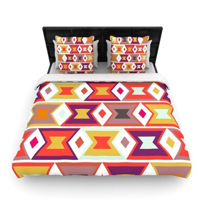 Aztec Weave Light by Pellerina Design Featherweight Duvet Cover Size: Queen, Fabric: Woven Polyester