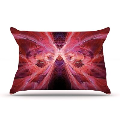 Alison Coxon Butterfly Blue Pillow Case Color: Red/Pink