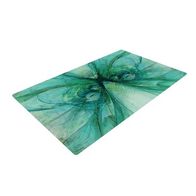 Alison Coxon Butterfly Blue Green/Black Area Rug